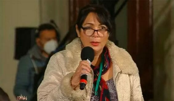 Valenzuela appealed to the president for help getting her son out of jail.