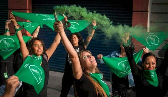 A pro-choice protest in Mexico City.