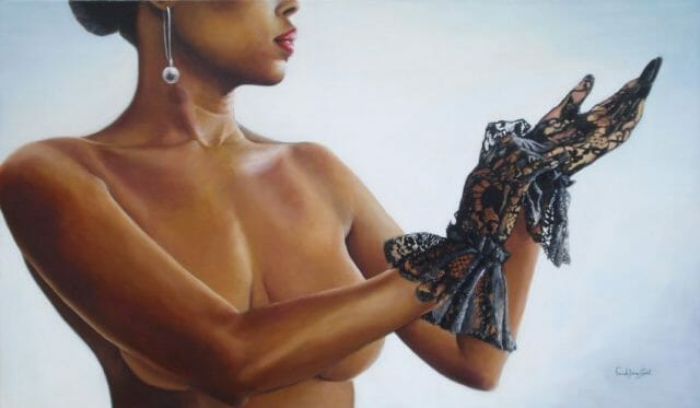 """""""Gloves"""" by Farah Jane Cadet – not a photo but a hyperrealistic painting."""