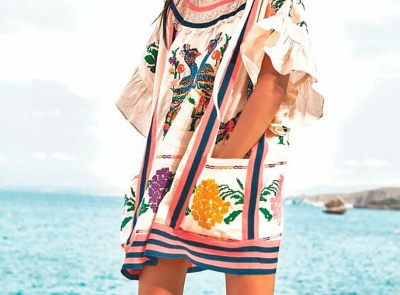 An outfit created by Zimmermann using indigenous designs from Oaxaca.
