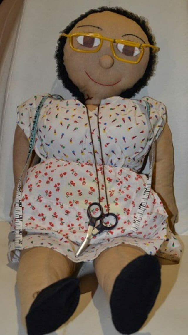 One version of the Victoria doll from the collection of organizer Tessa Brisac