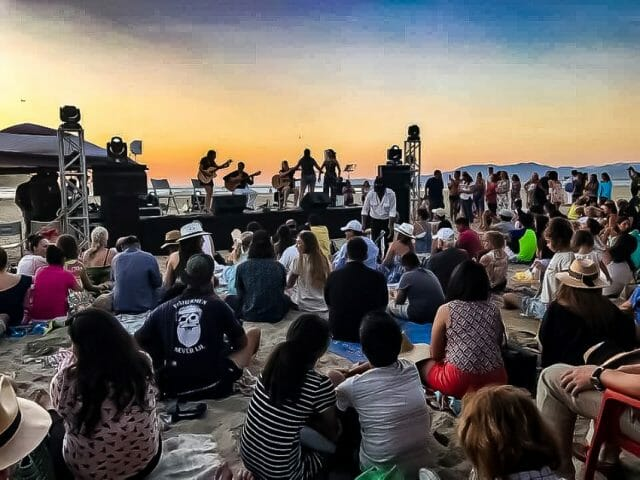 The Whales of Guerrero fundraiser put on a second free concert last year at the beach, which allowed locals to sell artisan wares.