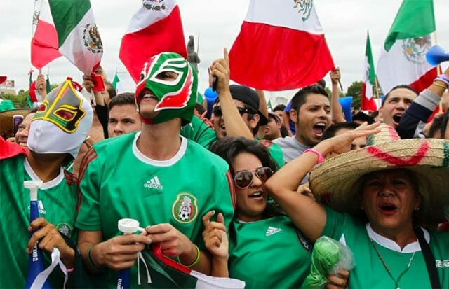 Mexicans are always happy when their favorite soccer team is winning.