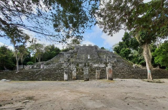 Calakmul's most significant pyramid, known as Structure II.