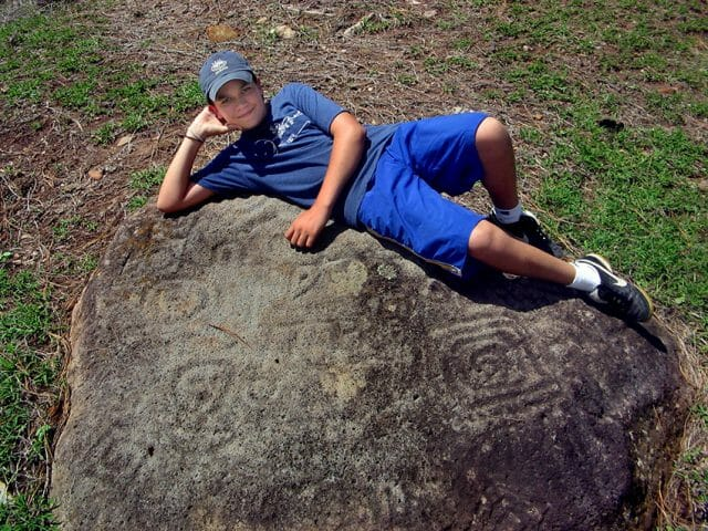 What the petroglyphs look like without the help of chalk.