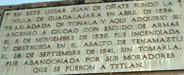 Legend on the Tlacotán monument.