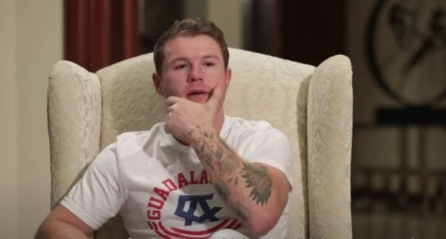 Mexican boxer Canelo Álvarez speaking during his interview with Graham Bensinger, to be broadcast this weekend (screen capture).
