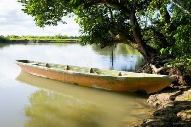 This traditional mode of transport is still used, but these days, the canoe has been mostly replaced by motorboats.