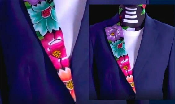 The design chosen for Mexico's Olympic costumes.