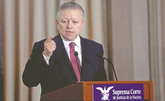 Supreme Court chief justice Arturo Saldívar. Opponents of extending his term until 2024 say the move would be unconstitutional.