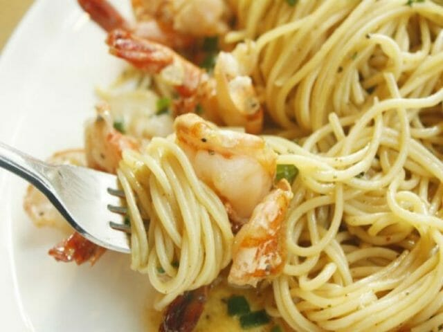 Chipotle can add a nice kick to dishes you wouldn't expect, like this shrimp pasta.
