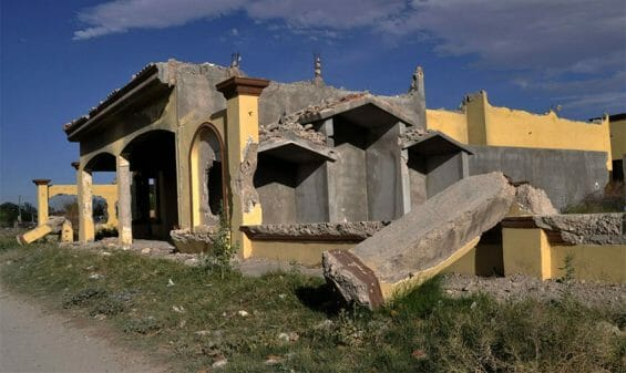 One of the homes destroyed in Allende in 2011.
