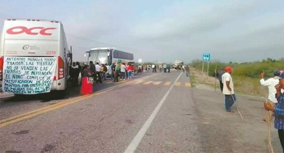 Residents protested against the process with a highway roadblock on Sunday.
