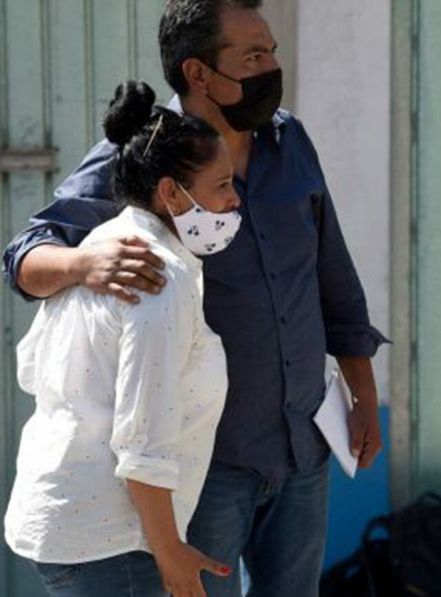Relatives of Flor Ninime, possible victim of Mexico state serial killer