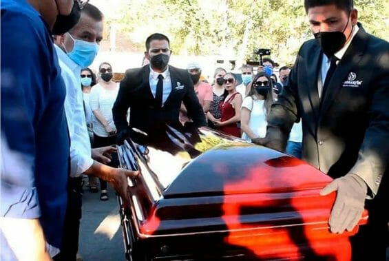 Funeral for murdered Cajeme, Sonora, mayoral candidate Abel Murrieta,