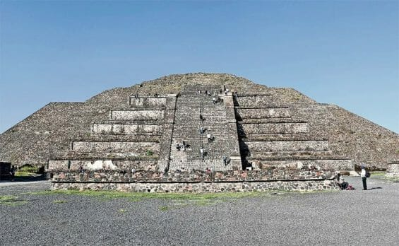 The Teotihuacán archaeological site.