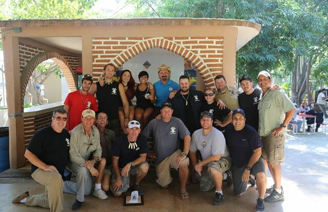 Cast and crew of The Gator Boys episodes in Mazatlán.