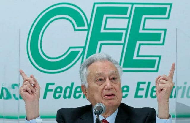 Mexico's Federal Electricity Commission head Manuel Bartlett