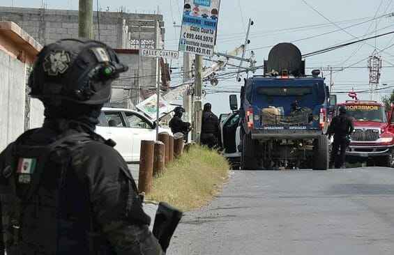 Authorities in Miguel Alemán.