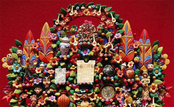 A tree of life sculpture from Metepec, México state.