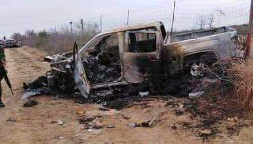 One of the vehicles discovered near 18 bodies on Friday.