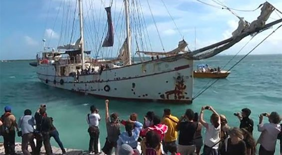 One delegation of Zapatistas is already en route to Spain on a vessel that left Quintana Roo May 2.