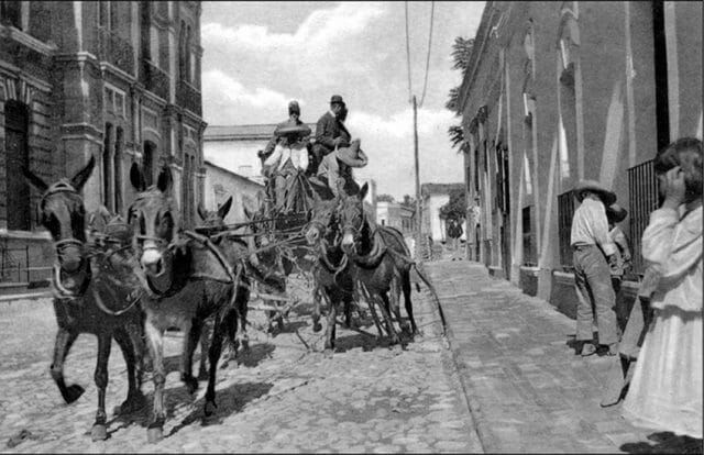 Stagecoach in Chapala around 1905