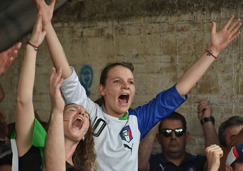 Chipilo, Puebla, residents cheer on Italy during UEFA Euro Championship