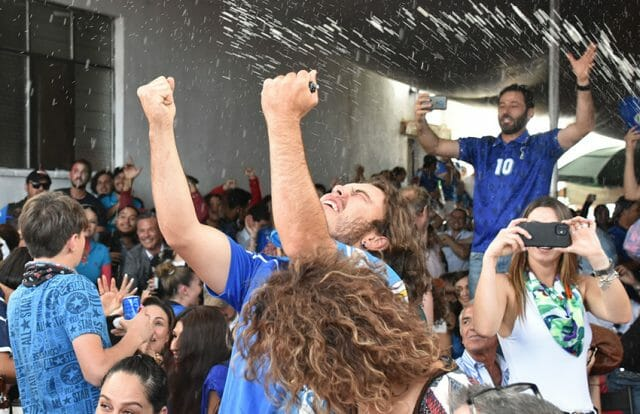 Chipilo resident Steffen Merlo Guridi reacts to Italy's win in UEFA Euro Championship