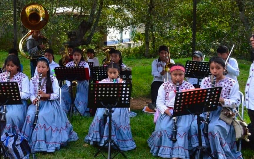 Members of the philharmonic band are short 10 wind instruments.