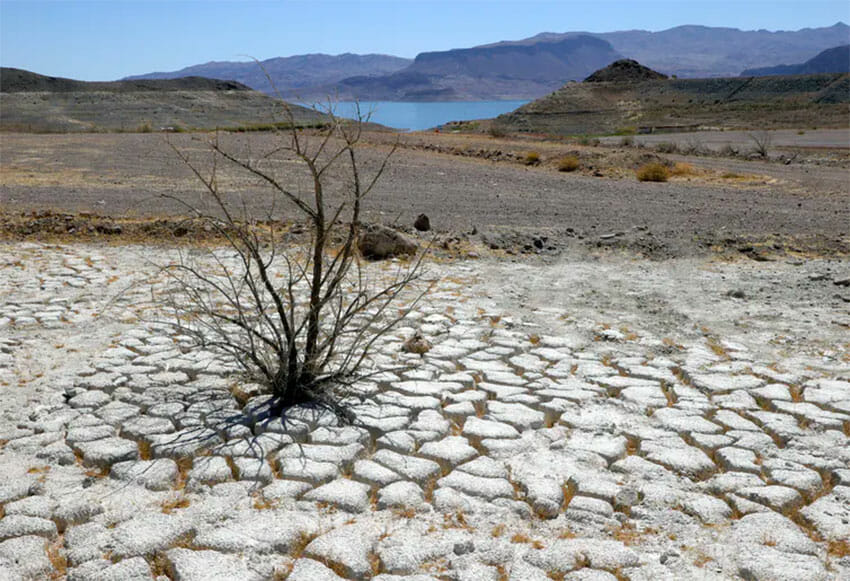 Lake Mead, which serves seven U.S. states and three in Mexico, is drying up