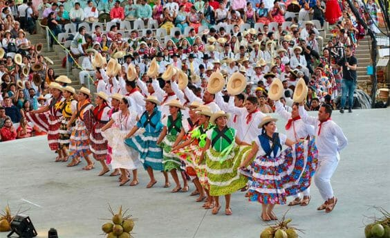 Dancers at a previous edition of Oaxaca's famous festival.