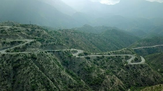 One of the mountain roads included in the public works project.