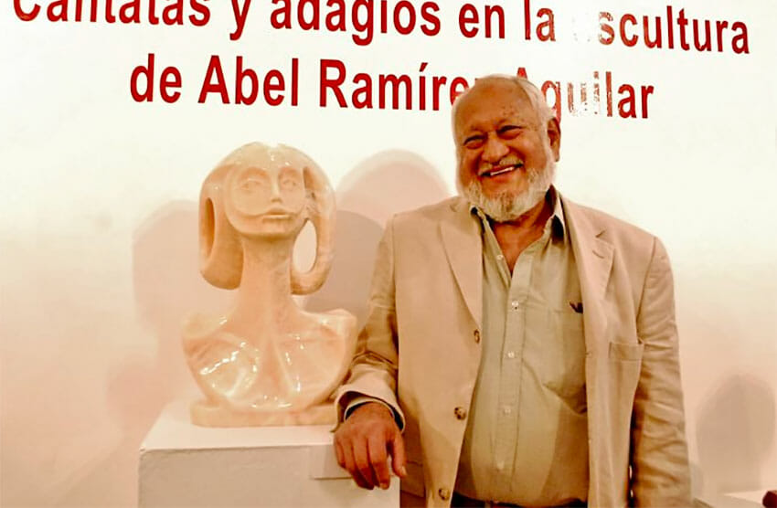 Ramírez at an exhibition of his work in 2019.