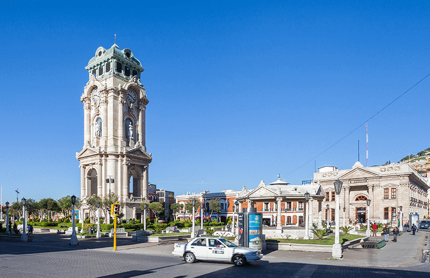 Pachuca's clock tower built for Centennial of Mexico's independence