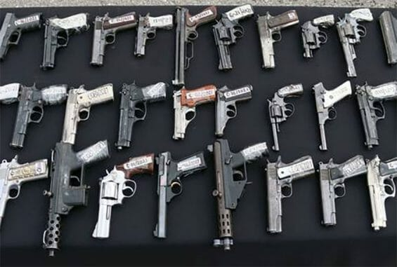 Weapons smuggled from the US to Mexico have likely been used in tens of thousands of homicides