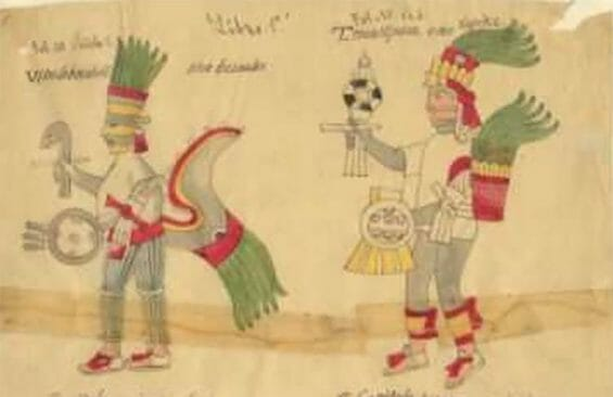 Illustrations from the Florentine Codex, which highlights Nahua perspectives of the Conquest.