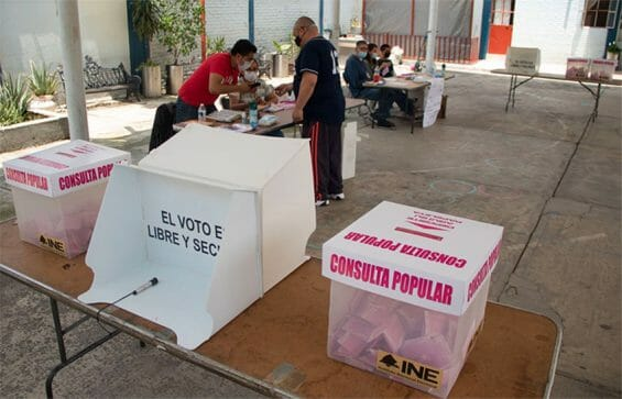 One of many quiet voting stations on Sunday.