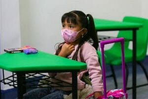 Six-year-old Andrea Ortiz was one of the millions of students who attended classes