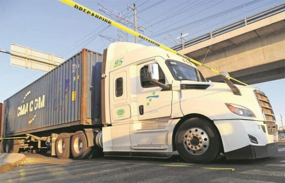 Most thefts targeted cargo transport vehicles.