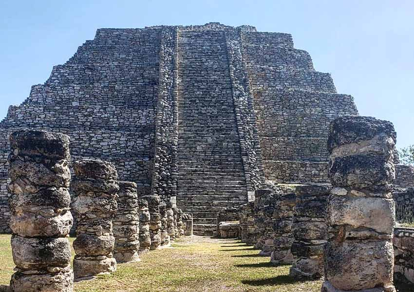 Castle of Kukulcán pyramid at Mayanpán site
