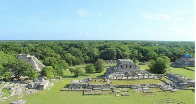 View of Mayapán archaeological site