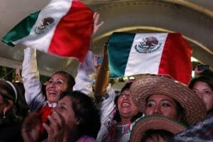 Mexicans celebrate the Cry of Dolores in Puebla
