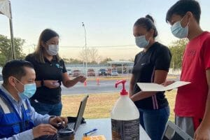Piedras Negras kids in Maverick County, TX getting vaccinated