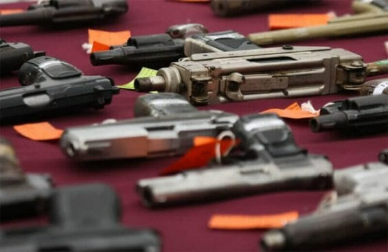 A government study published last year said that some 2.5 million illicit weapons have crossed the border into Mexico over the past decade.