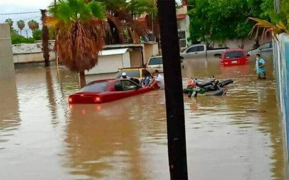 Flooding in Los Cabos Friday morning.