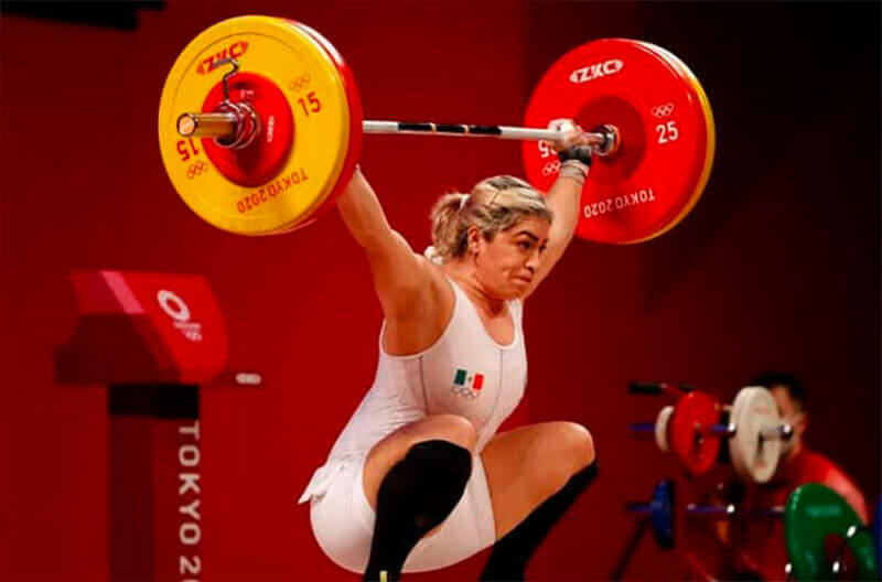 Olympic weightlifting medalist Aremi Fuentes.