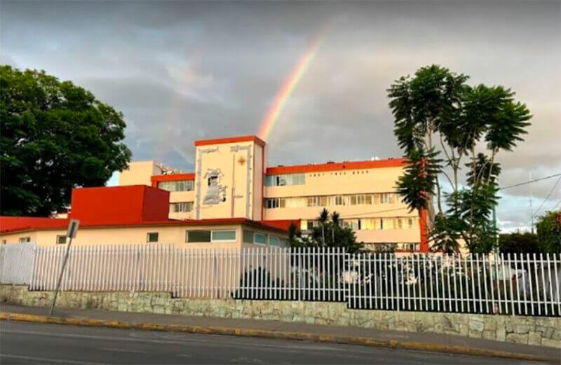 A hospital in Oaxaca, where at least 12 hospitals are at capacity.