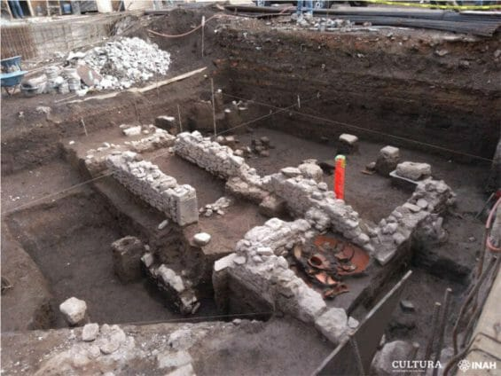 Archaeological remains found in Morelos, Mexico City.