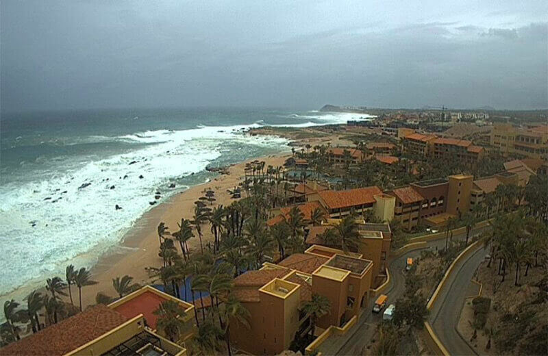 Threatening skies in Cabo San Lucas late Thursday afternoon.